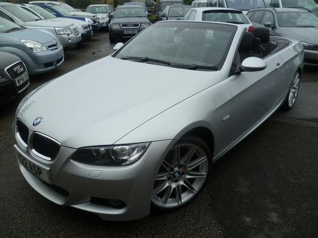 used bmw 3 series 2009 petrol 320i m sport convertible silver edition for sale in penzance uk. Black Bedroom Furniture Sets. Home Design Ideas