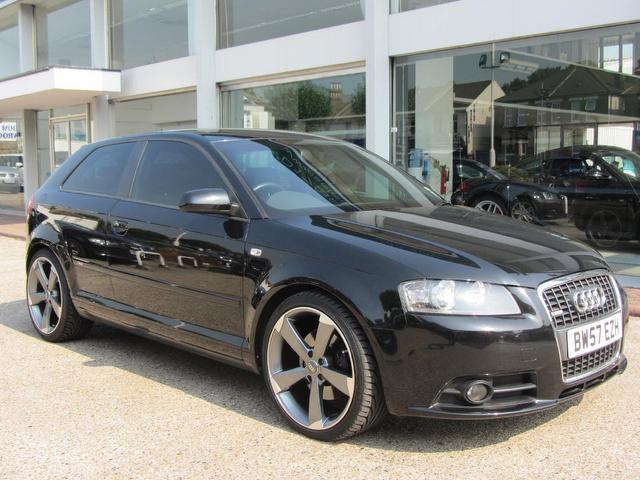 used audi a3 2008 black paint diesel 2 0 tdi 170 s hatchback for sale in sevenoaks uk autopazar. Black Bedroom Furniture Sets. Home Design Ideas