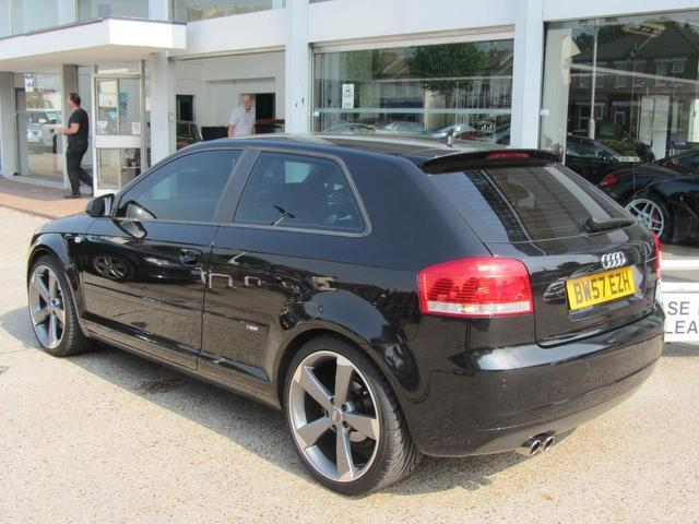 used audi a3 car 2008 black diesel 2 0 tdi 170 s hatchback for sale in sevenoaks uk autopazar. Black Bedroom Furniture Sets. Home Design Ideas