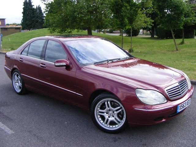 Used mercedes benz 2001 maroon colour petrol class s430 4 for 2001 mercedes benz s430