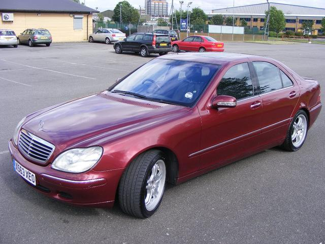 Used mercedes benz 2001 maroon colour petrol class s430 4 for 2001 mercedes benz s500 specs
