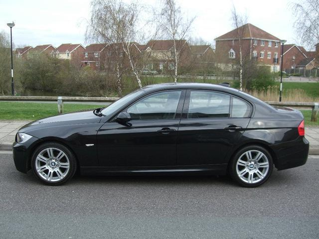 used black bmw 3 series 2007 diesel 318d m sport saloon excellent condition for sale autopazar. Black Bedroom Furniture Sets. Home Design Ideas
