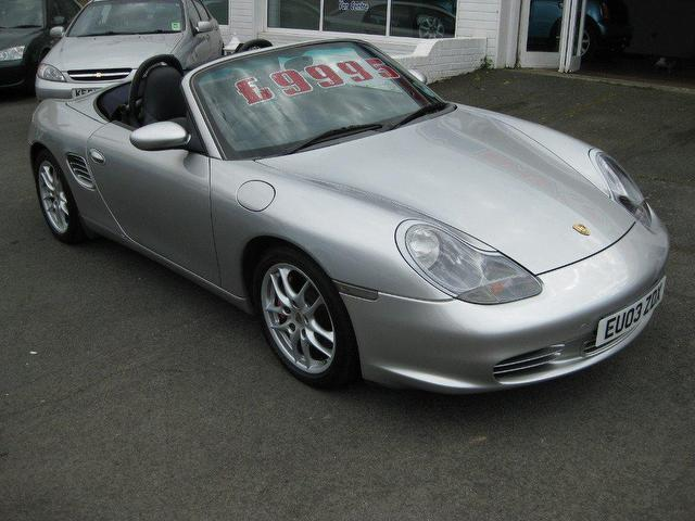 used porsche boxster 2003 petrol 3 2 s 260 2dr convertible silver manual for sale in. Black Bedroom Furniture Sets. Home Design Ideas