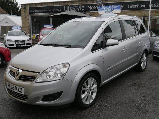 used 2008 vauxhall zafira estate silver edition 1 9 cdti. Black Bedroom Furniture Sets. Home Design Ideas