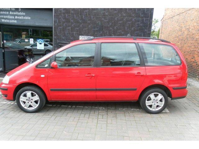 used volkswagen sharan 2001 petrol carat 5dr estate red manual for sale in stockport uk. Black Bedroom Furniture Sets. Home Design Ideas