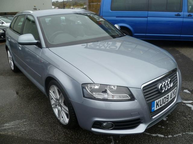 used audi a3 2009 silver paint diesel 2 0 tdi 170 s hatchback for sale in penzance uk autopazar. Black Bedroom Furniture Sets. Home Design Ideas