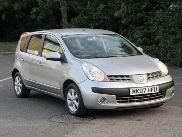 used 2007 nissan note silver edition petrol for sale in epsom uk autopazar. Black Bedroom Furniture Sets. Home Design Ideas