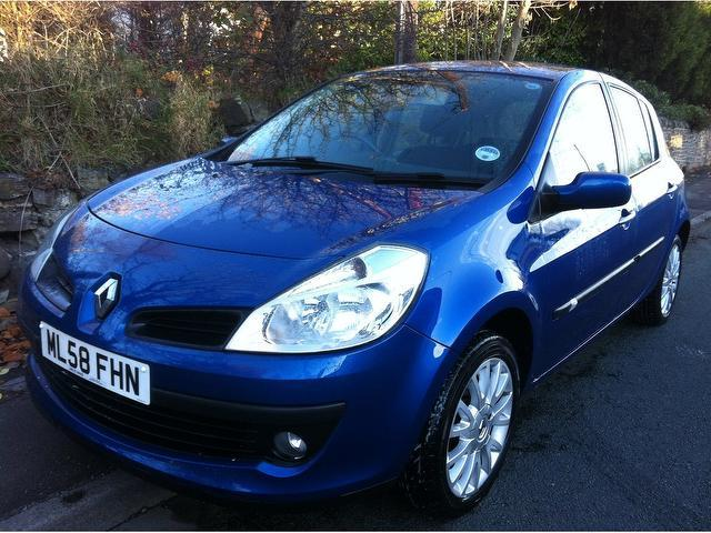 used renault clio 2008 petrol 1 2 16v dynamique 5dr hatchback blue edition for sale in stoke on. Black Bedroom Furniture Sets. Home Design Ideas